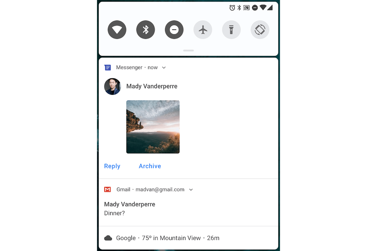 Android P Messaging Notifications Take Some Inspiration