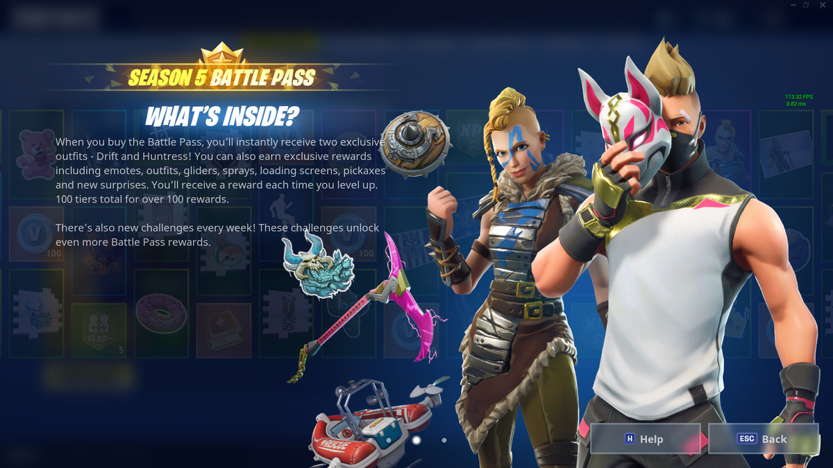 Fortnite Season 5 Battle Pass Skins Price Details And