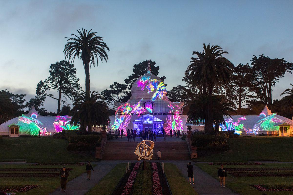 Conservatory Flowers Light Show
