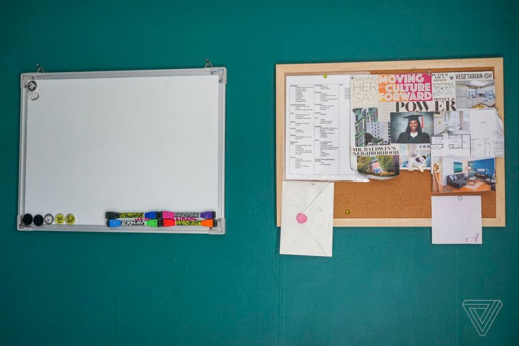 Keeping up to date with a corkboard and whiteboard.