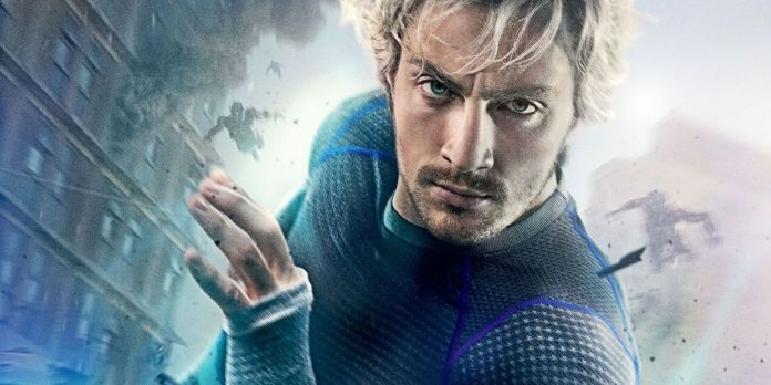 Pietro Maximoff/Quicksilver in a poster for Avengers: Age of Ultron