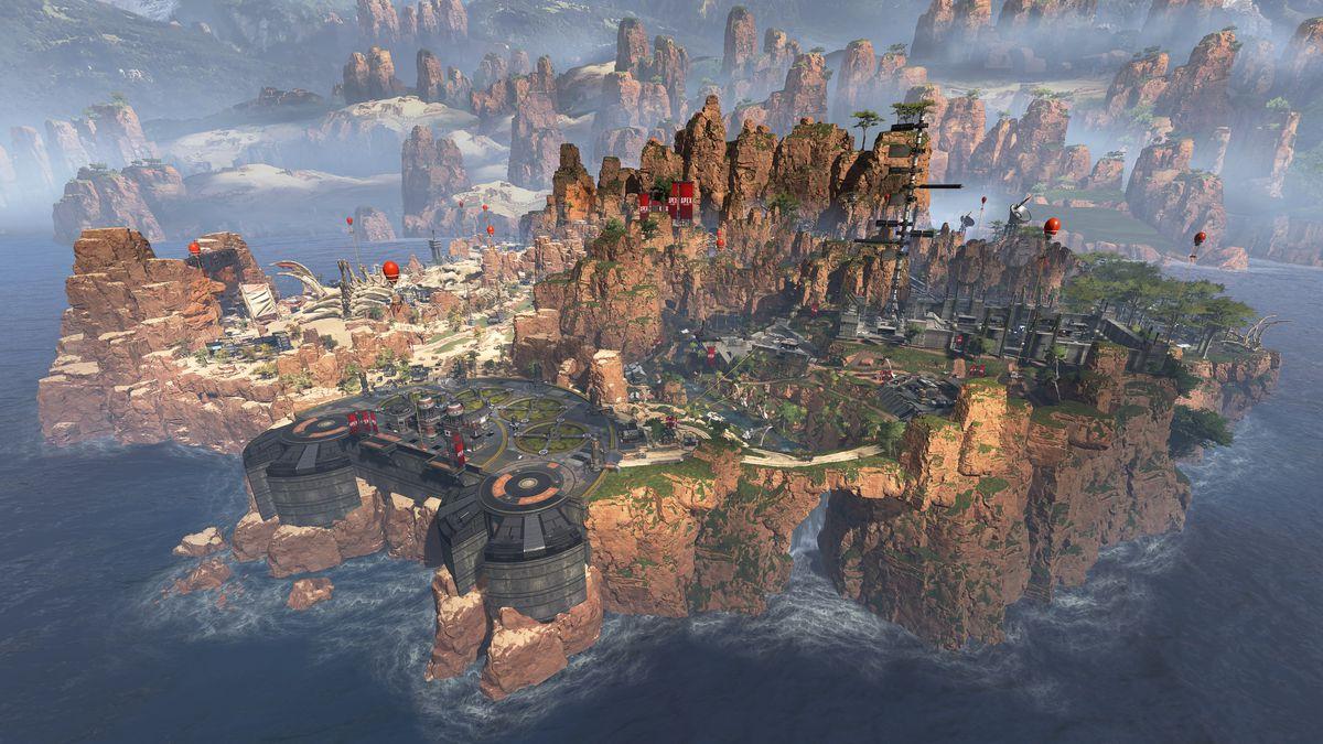 Apex Legends: plano general de Kings Canyon en The Outlands