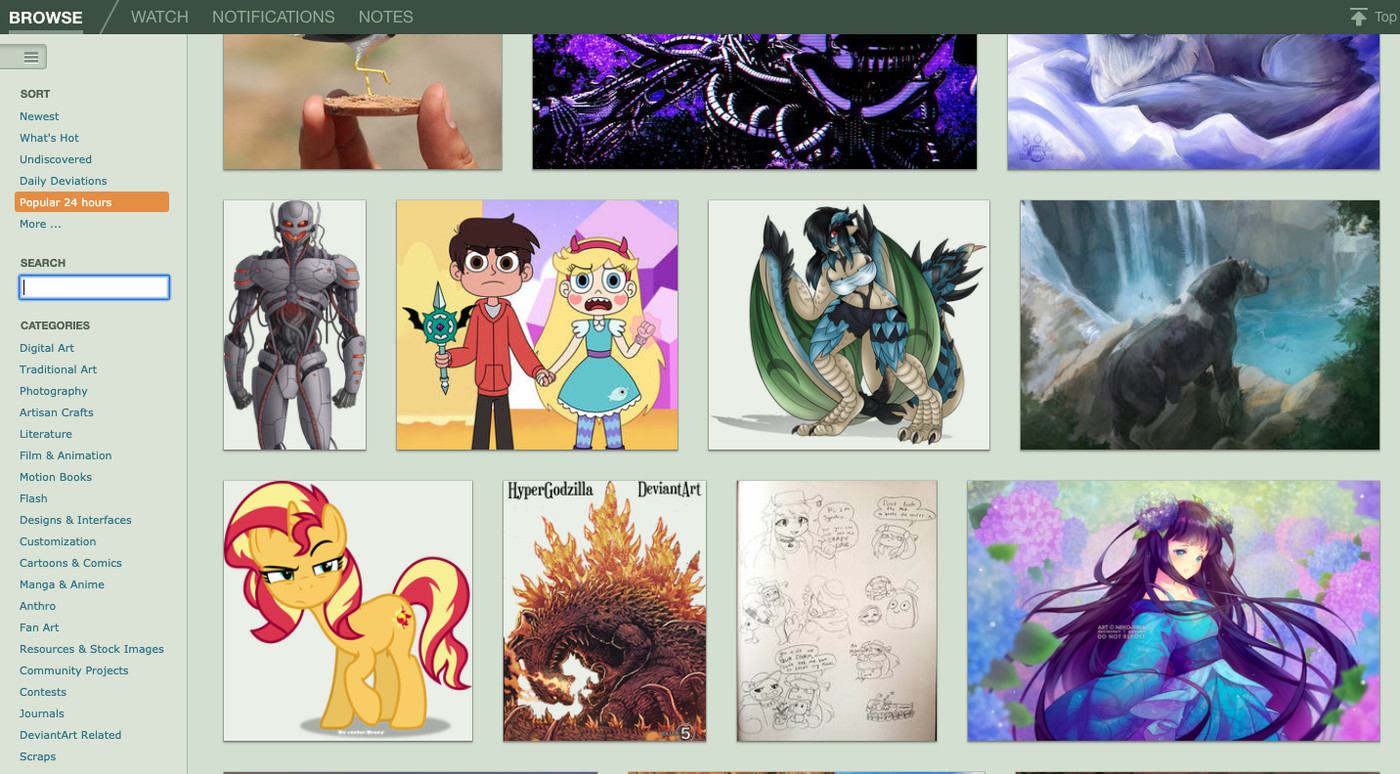 Deviantart Is Growing Up With Its Biggest Redesign Ever The Verge