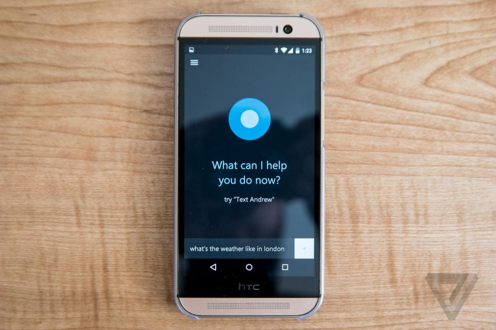Cortana for Android screenshots