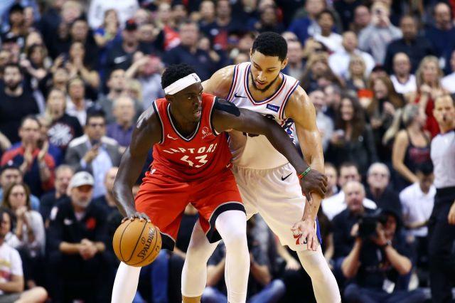 Image result for Toronto Raptors vs Philadelphia 76ers