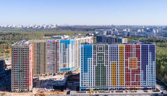 Colorful buildings in Moscow suburbs