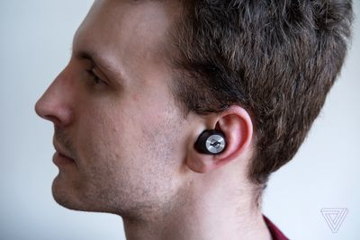 A side profile shot of the Sennheiser Momentum True Wireless 2, the best wireless earbuds for sound quality.