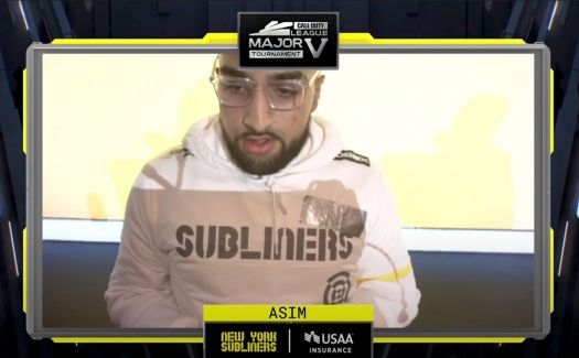 """New York Subliners player """"Asim"""" at a recent Call of Duty League event"""