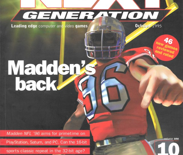 Next Generation Magazine Cover Of October 1995 Issue Showing 96 Of The San Francisco