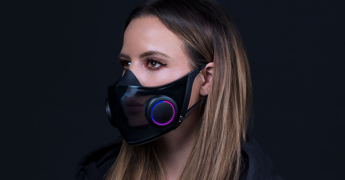 Razer is actually making its concept RGB face mask