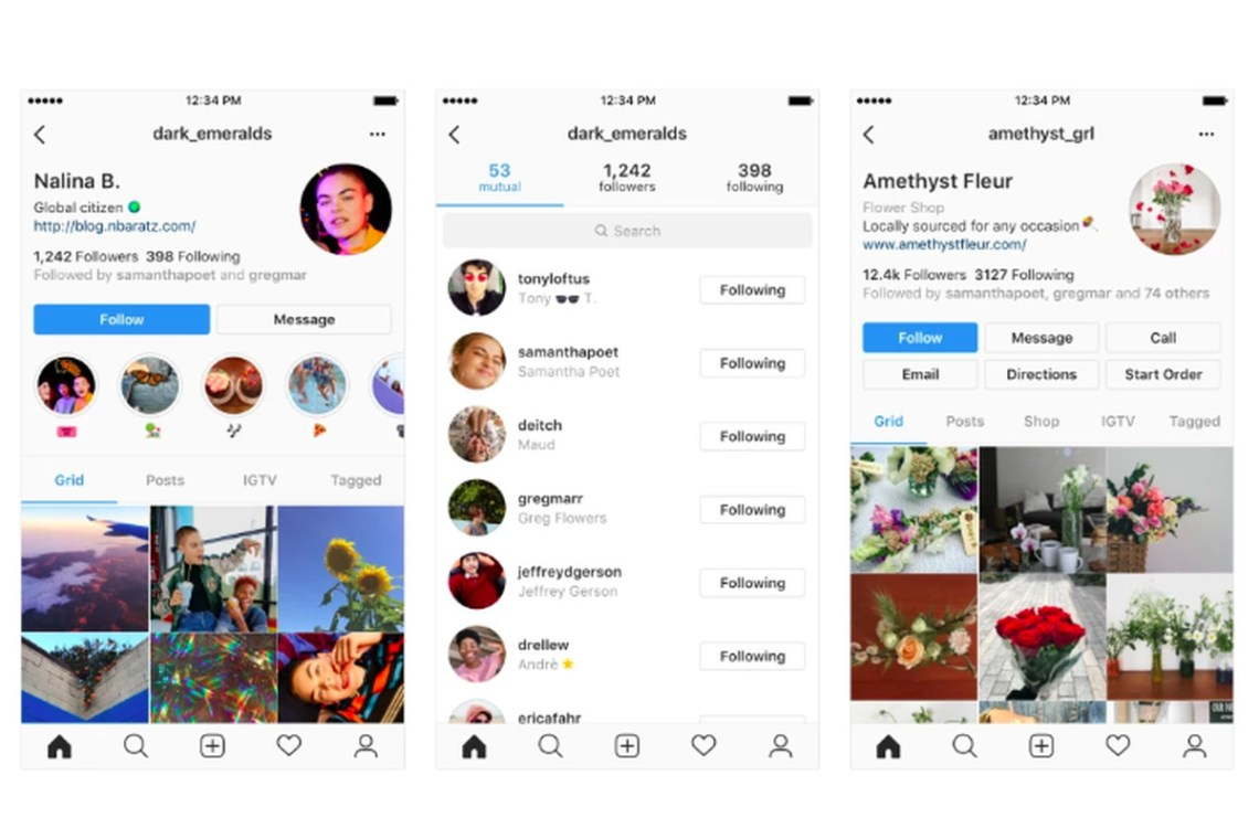 Instagram's new profile designs emphasize users instead of ...
