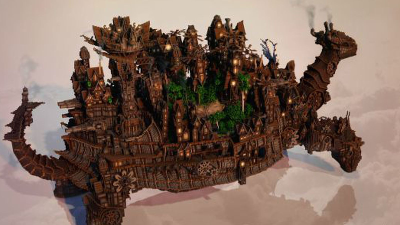 Minecraft User Builds An Entire City On The Back Of A