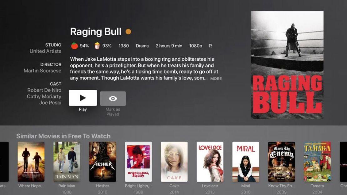 Plex streaming app interface
