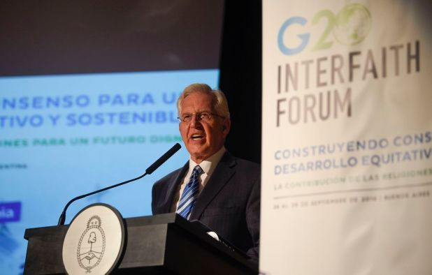 20180926 Elder d.  Christ Christ on Farson, a member of the Church of Jesus Christ of Latter-day Saints, is speaking at the G20 Interfaith Forum in Buenos Aires, Argentina on Sunday, September 26, 2018.