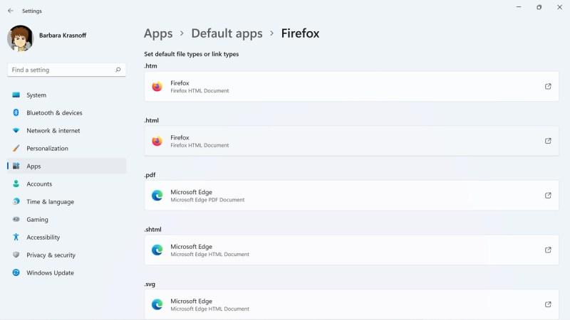 La procedura guidata predefinita di Firefox cambia alcune, ma non tutte, le impostazioni dei file del browser.