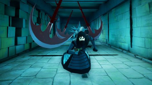 season 5 samurai jack runs through some blades in Battle Through Time