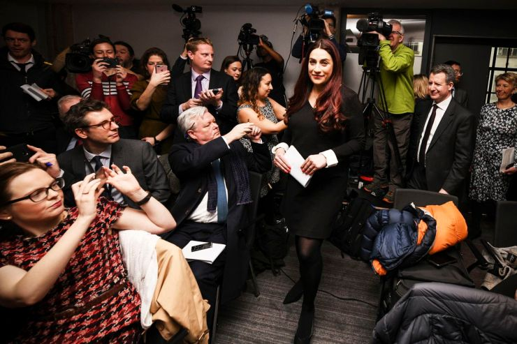 Labour MP Luciana Berger arrives at a press conference in which she and six other MPs announced their resignation from the Labour Party, on February 18, 2019, in London, England.