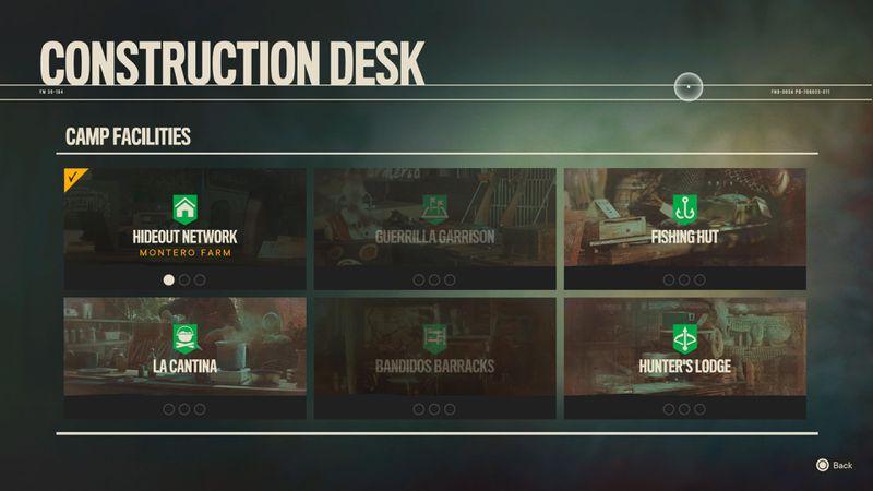 The construction desk screen in Far Cry 6