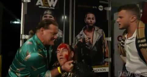 Chris Jericho crosses the line with the Young Bucks' father