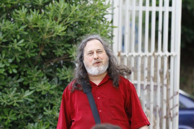 Richard Stallman speaks at the Commons Fest 2015.