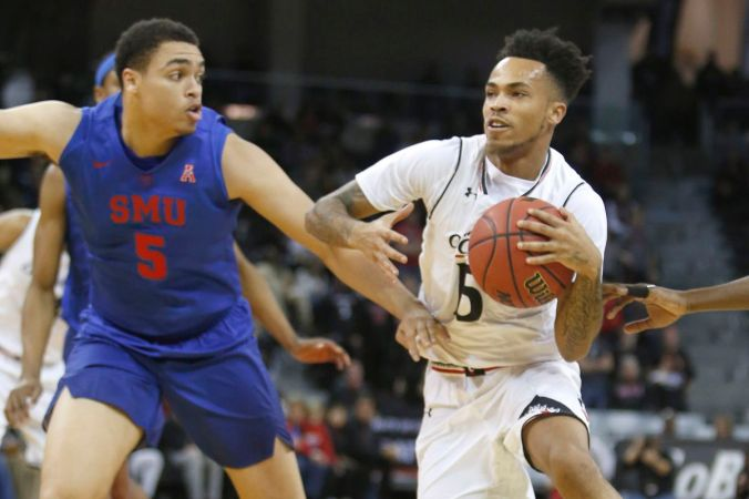 Image result for Cincinnati Bearcats vs SMU Mustangs college basketball 2019