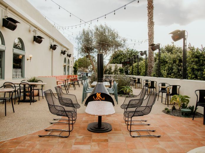Starry Night dining patio at Jeune et Jolie in Carlsbad