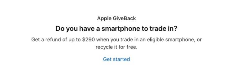 Apple GiveBack program