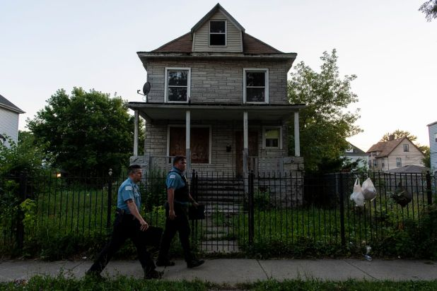 Chicago police are investigating the scene in which two people were shot, including a 7-year-old girl in the 100 block of North Latrobe, in the Austin neighborhood.  The girl, identified by her family as Natalie Wallace, later died at Stroger Hospital.