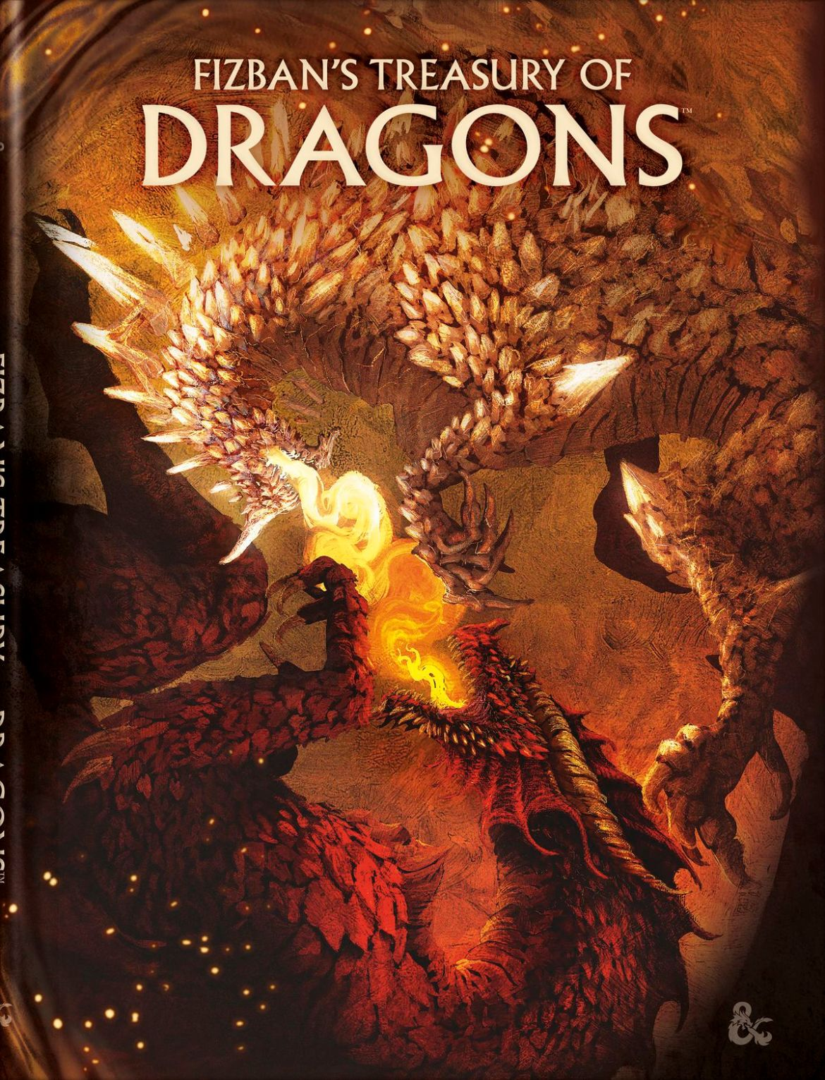 The bookstore-exclusive alternate cover of the D&D sourcebook Fizban's Treasury of Dragons