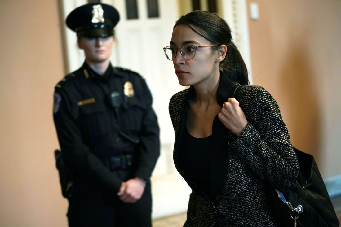 AOC cruised passed a police officer