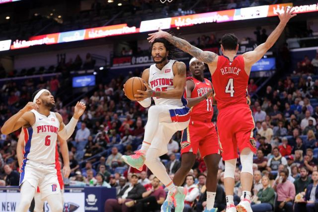 Pistons vs. Pelicans final score: Pistons escape with 105-103 win via  Derrick Rose's game winner - Detroit Bad Boys