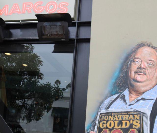 Jonathan Gold Mural At Margos By Jonas Never Margos