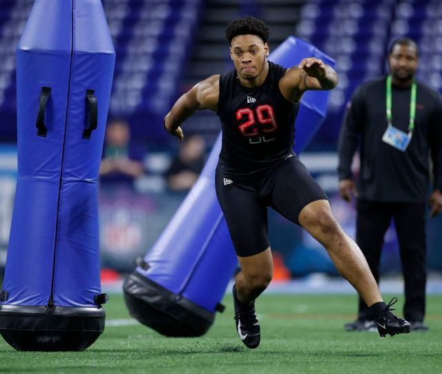 Nfl Combine Takeaways From Day  Of Dl Lb Workouts Windy