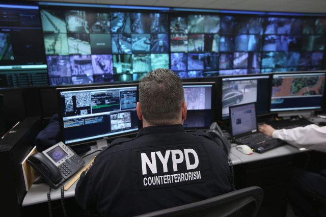<em>IBM's software was reportedly developed and tested on surveillance cameras run through the Lower Manhattan Security Initiative (pictured). </em>