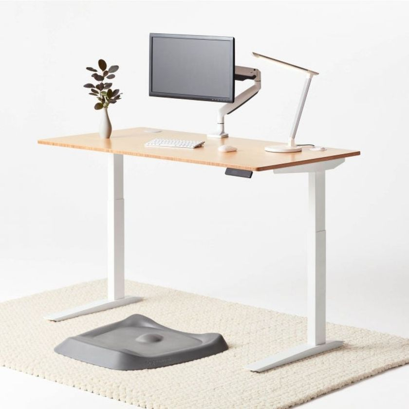 fully jarvis standing desk white bamboo bundle c v1