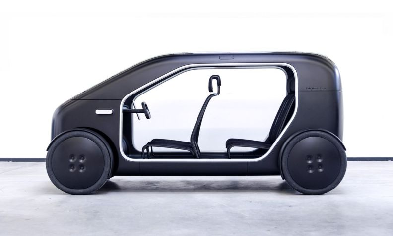 Rendering of car with transparent door