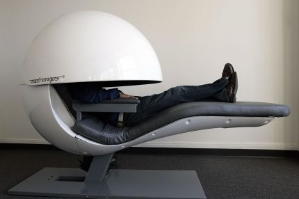 Futuristic nap pods get upgraded with sleepy sounds, but do they ...