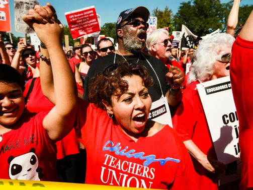 The strike that brought teachers unions back from the dead - Vox