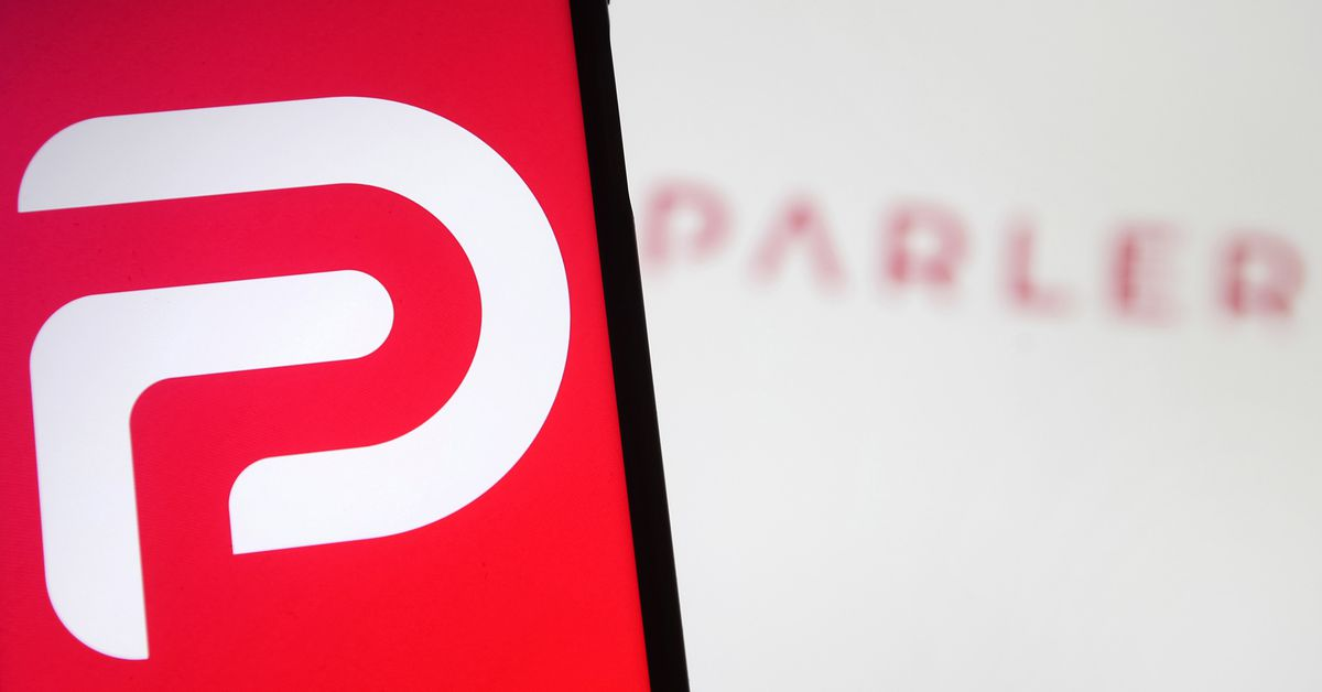 Parler resurfaces on Sunday with an update message, but nothing else
