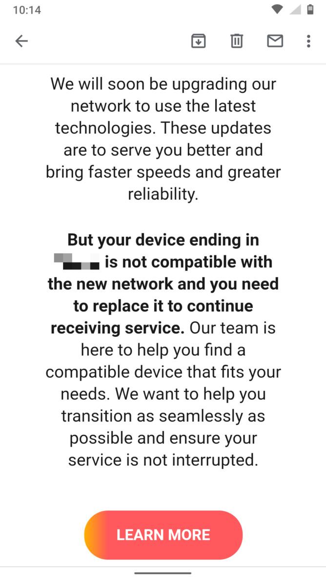 att update email network 1