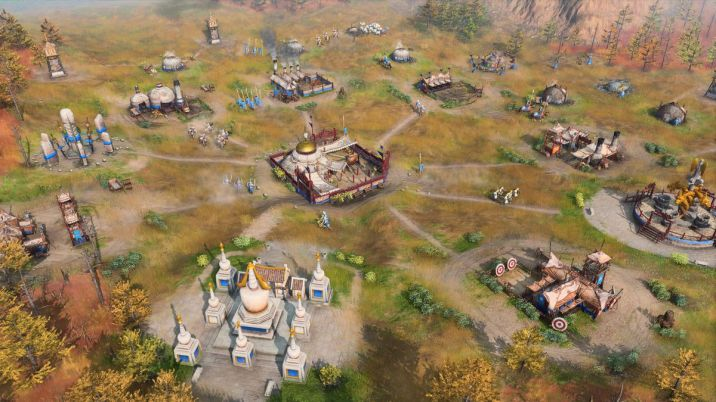 A mobile Mongol camp in Age of Empires 4