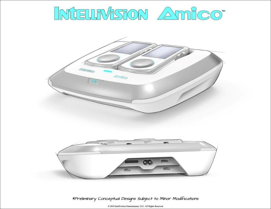 An artist's rendering of the Amico console from Intellivision.