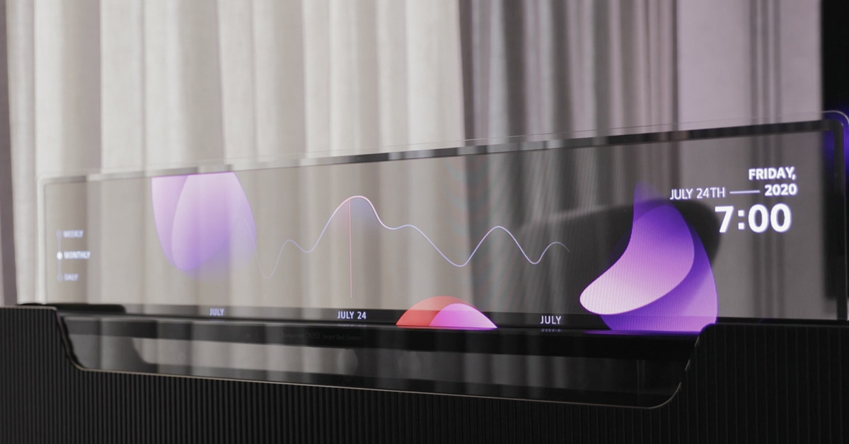 LG imagines a bed with a hidden see-thru OLED TV set