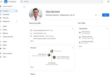 This Google Contacts redesign is starting to look a bit like Google Plus