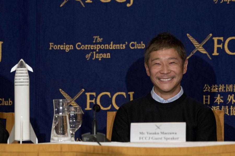 Yusaku Maezawa, #dearMoon Host Curator, In Tokyo