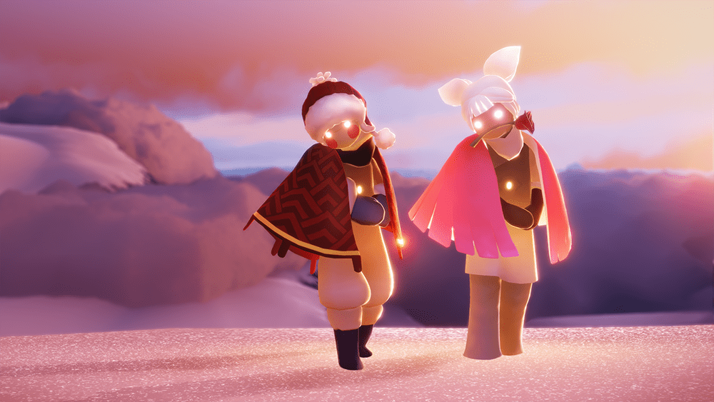 Two characters pose in unison in Sky: Children of the Light