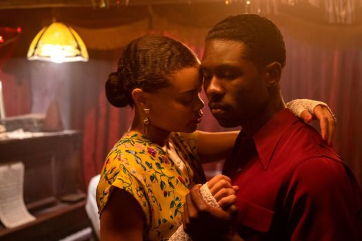 Andra Day and Trevante Rhodes as Billie Holiday and Jimmy Fletcher in Lee Daniels' The United States Vs. Billie Holiday