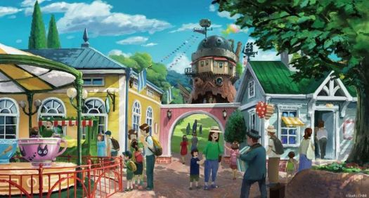 concept art of the kiki's delivery service area amusement park