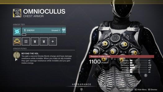 Omnioculus Destiny 2 Season of the Chosen description