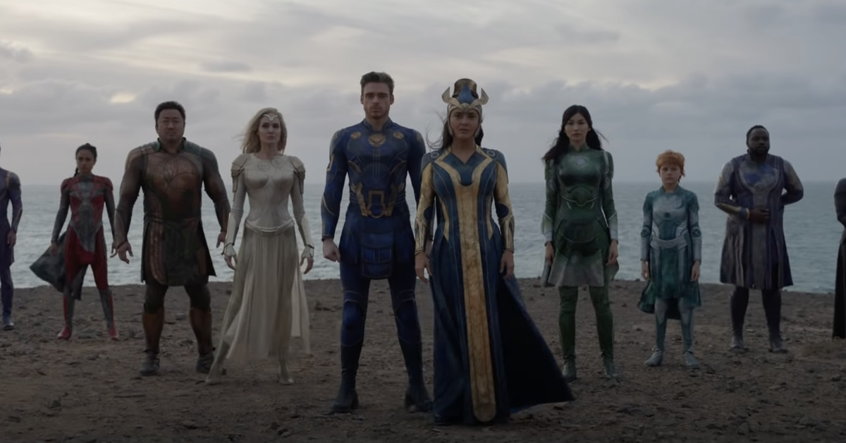 The first full trailer for Chloé Zhao's Eternals promises an epoch-spanning epic from Marvel